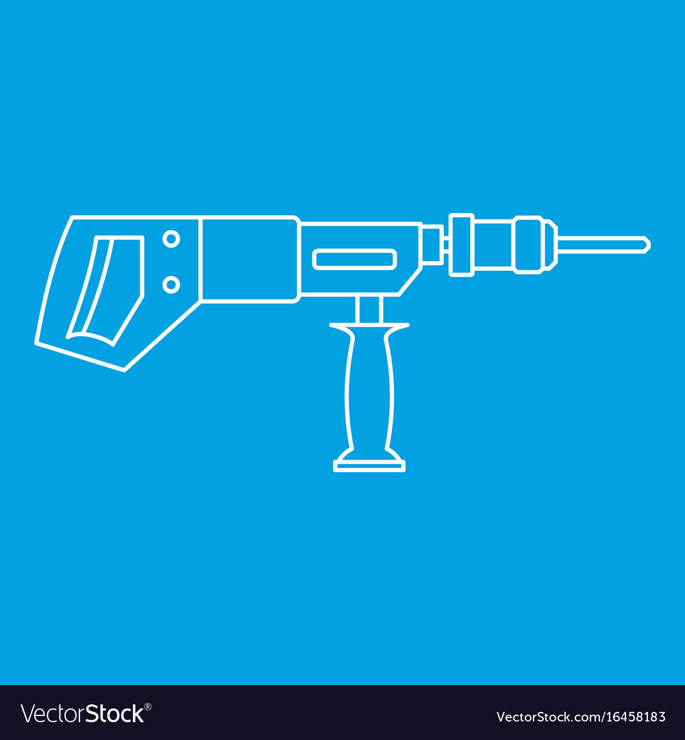 Electric drill perforator icon outline