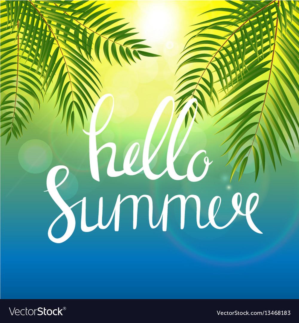 Hello summer natural background