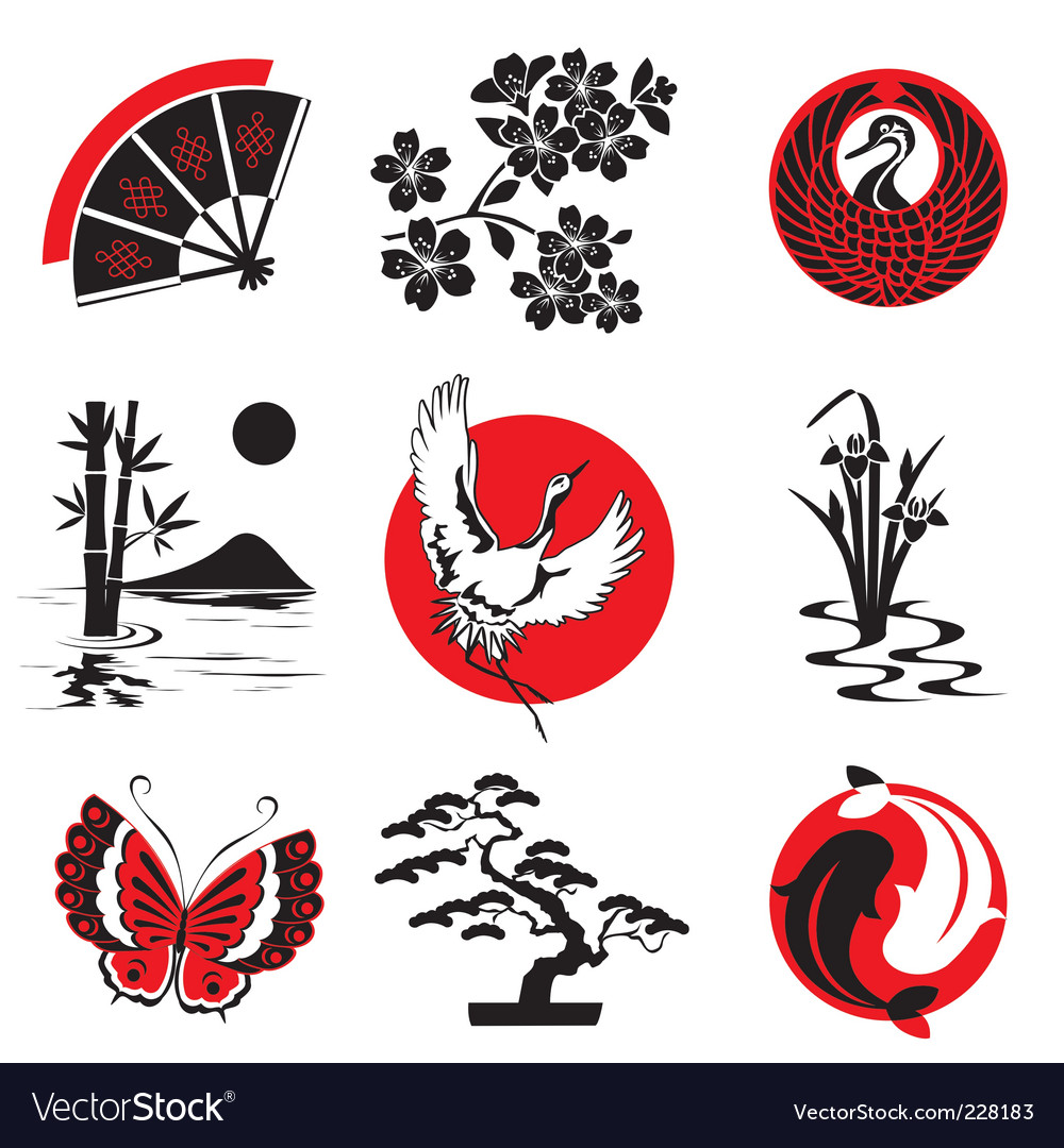 japanese design elements royalty free vector image rh vectorstock com japanese vector free japanese vector designs