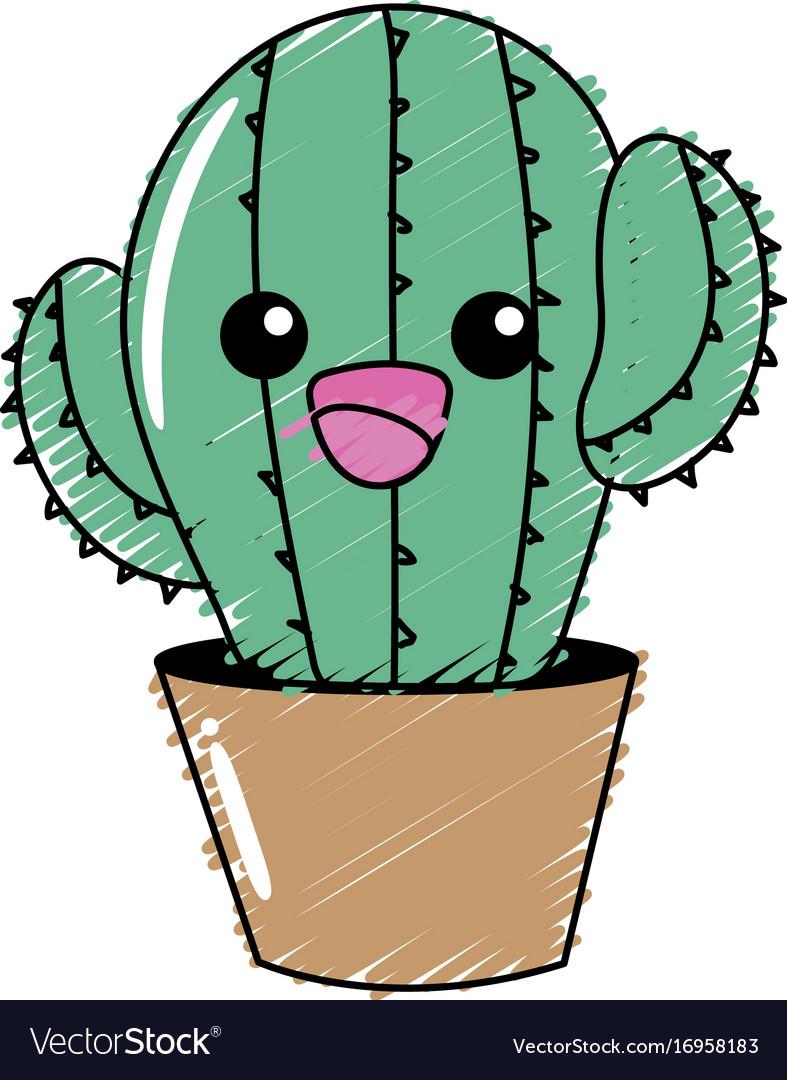 есть картинки мультяшного кактуса с глазками было