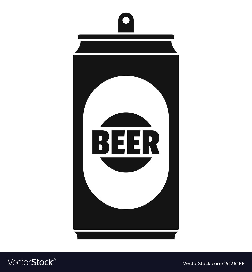 beer can icon simple style royalty free vector image rh vectorstock com beer can vector free crushed beer can vector