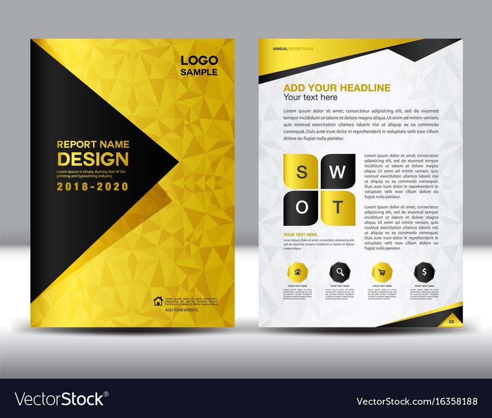 Business brochure flyer template in a4 size gold vector image saigontimesfo