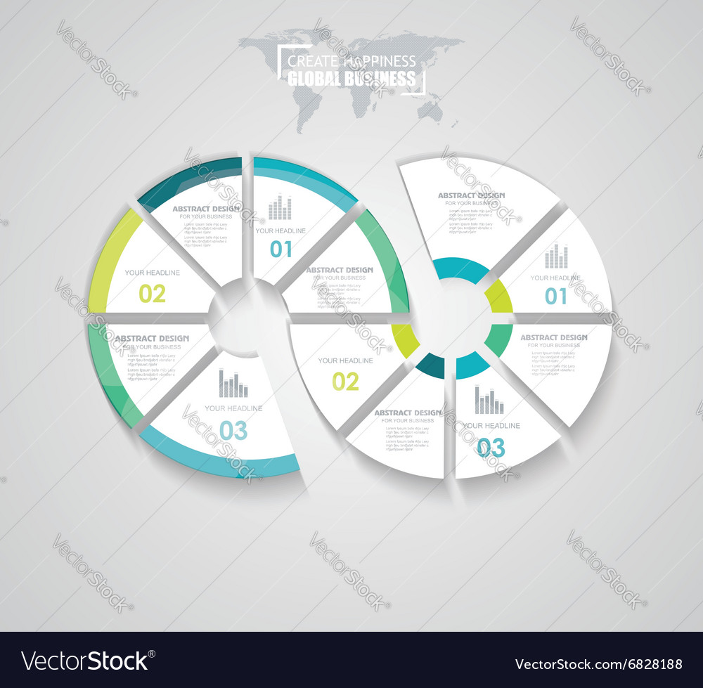 Business pie chart for reports infographic vector image