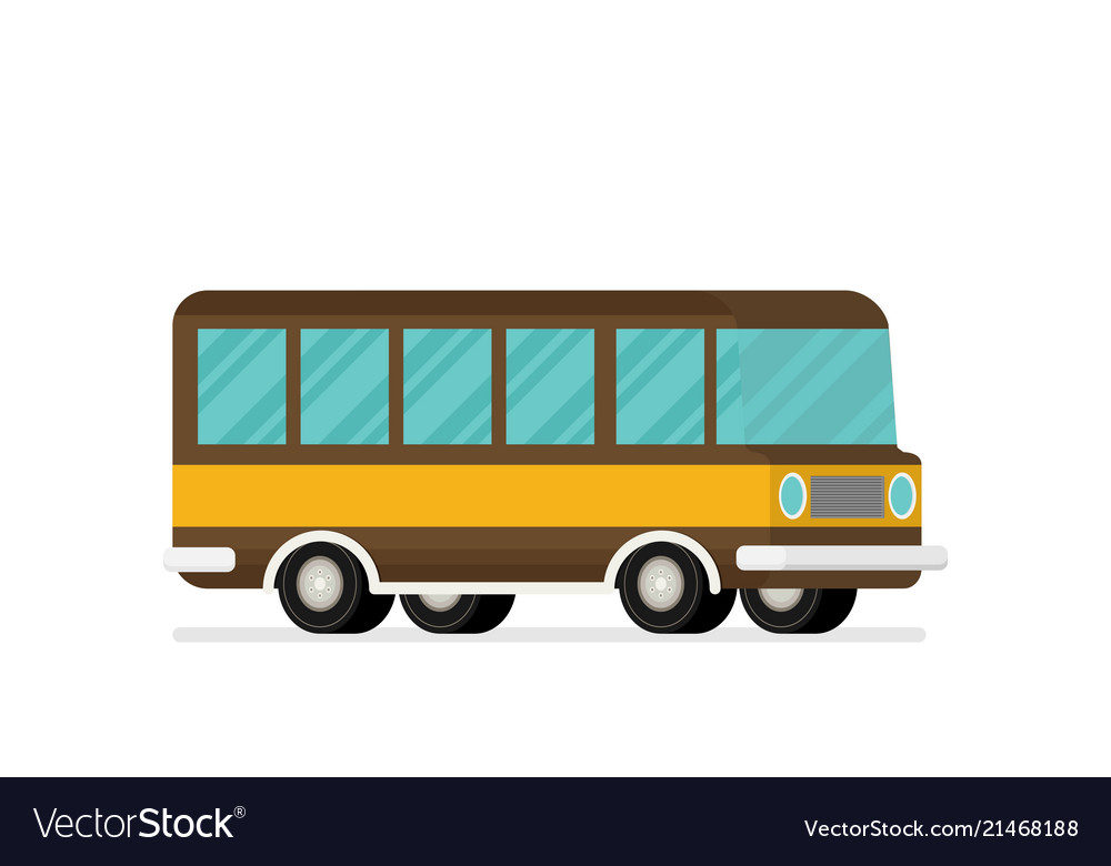Caravan trailer in flat style