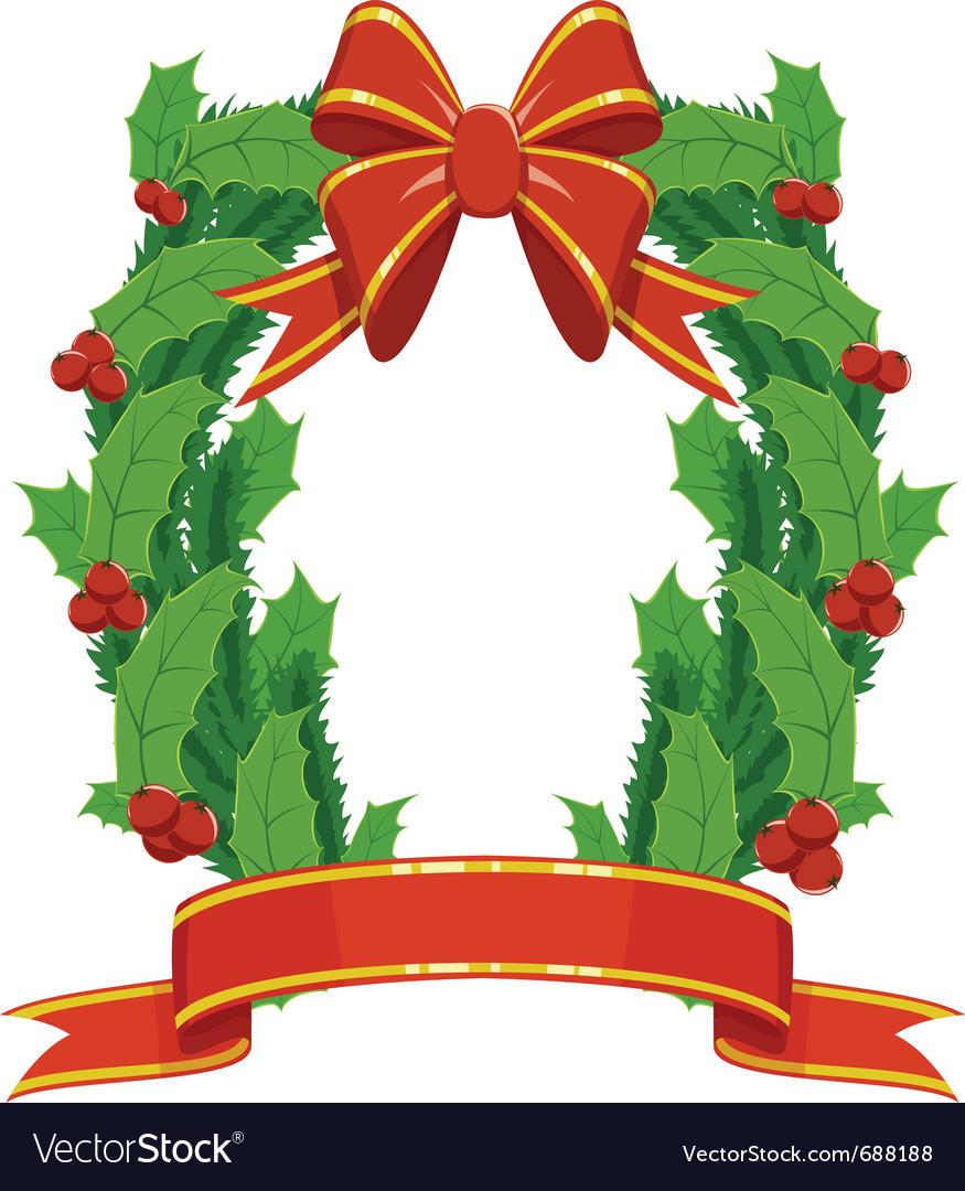 Christmas holly and fir garland