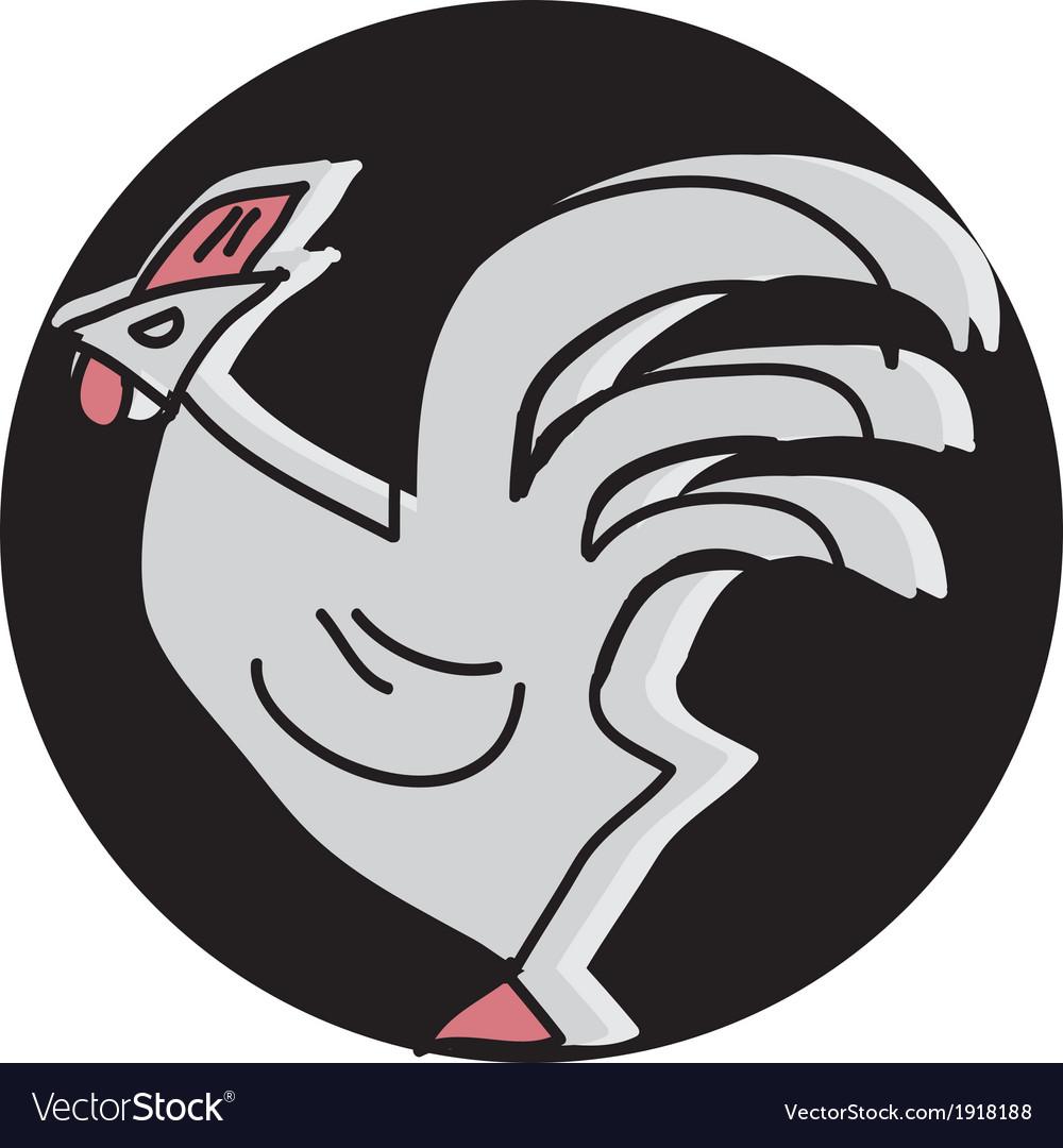 Cock vector image