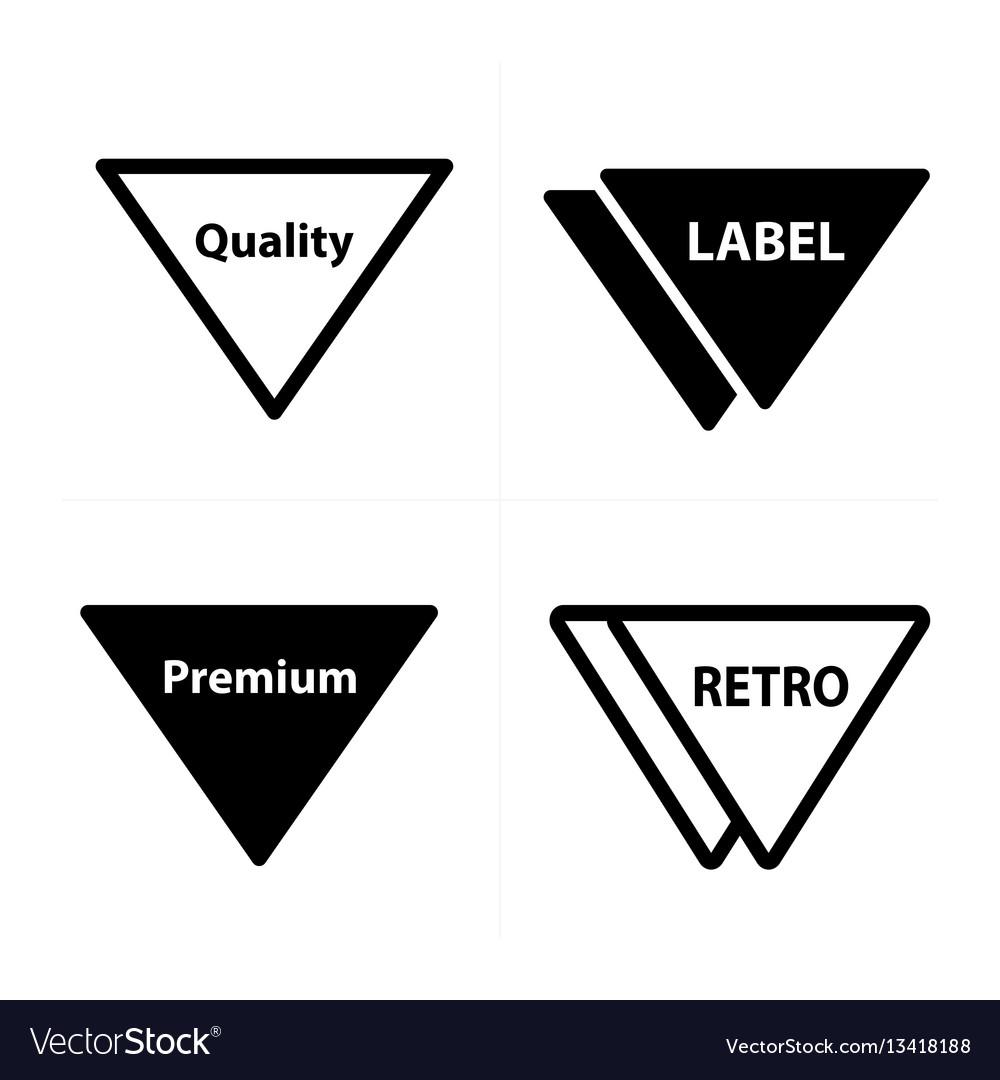 Price tags label set triangle design