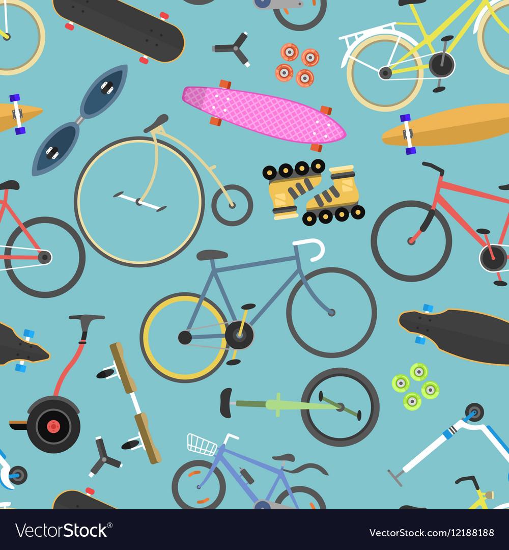 Retro bike seamless pattern background