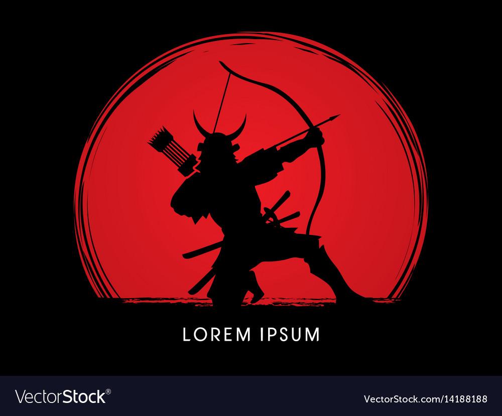 Samurai warrior with bow