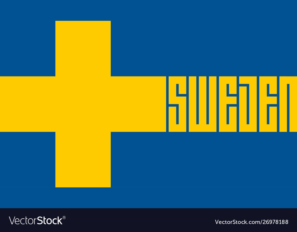 Welcome to sweden stylized lettering in the