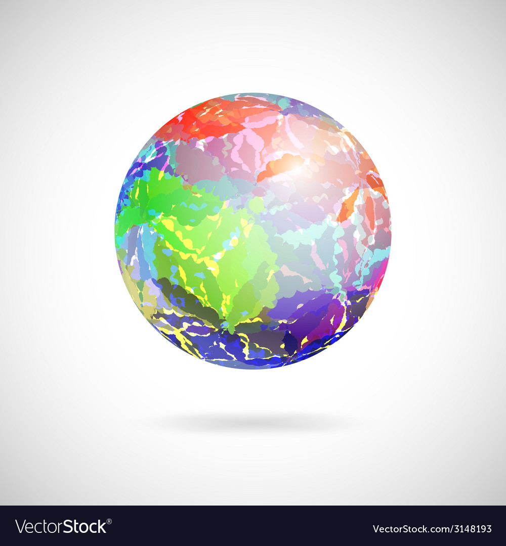 Abstract ball of colored spots
