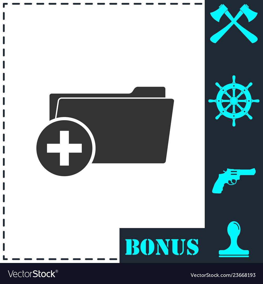 Add folder icon flat