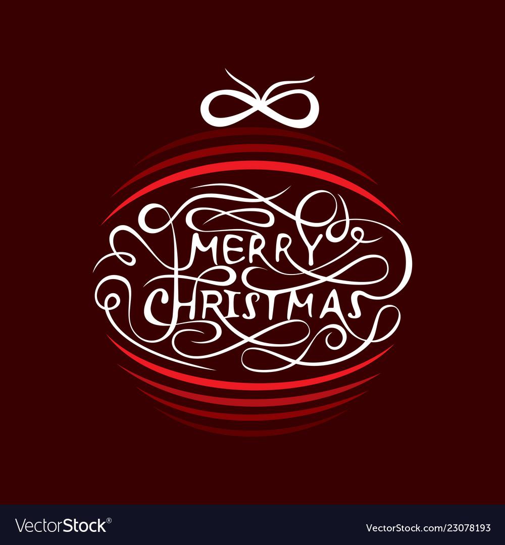 Creative merry christmas tree design