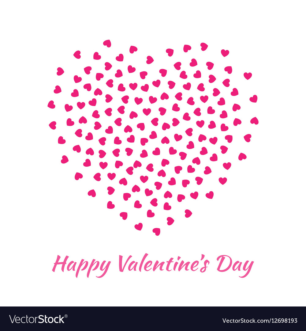 Pink Heart for Valentines Day card Background