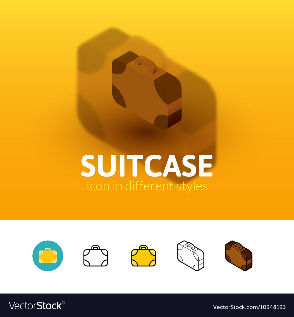 Suitcase icon in different style