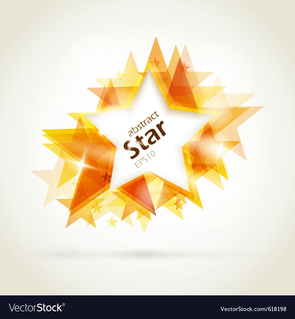 Abstract golden star vector image