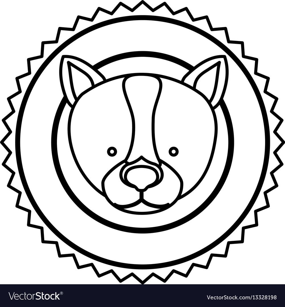 Emblem dog hunter city icon