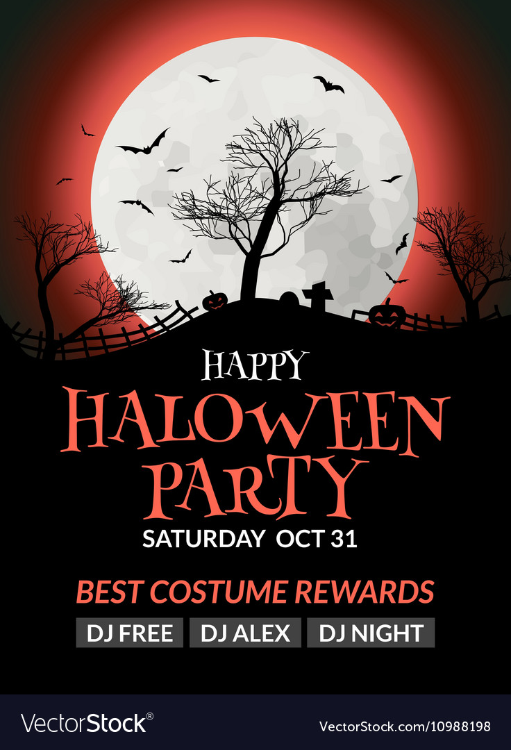 Halloween flyer or poster design template