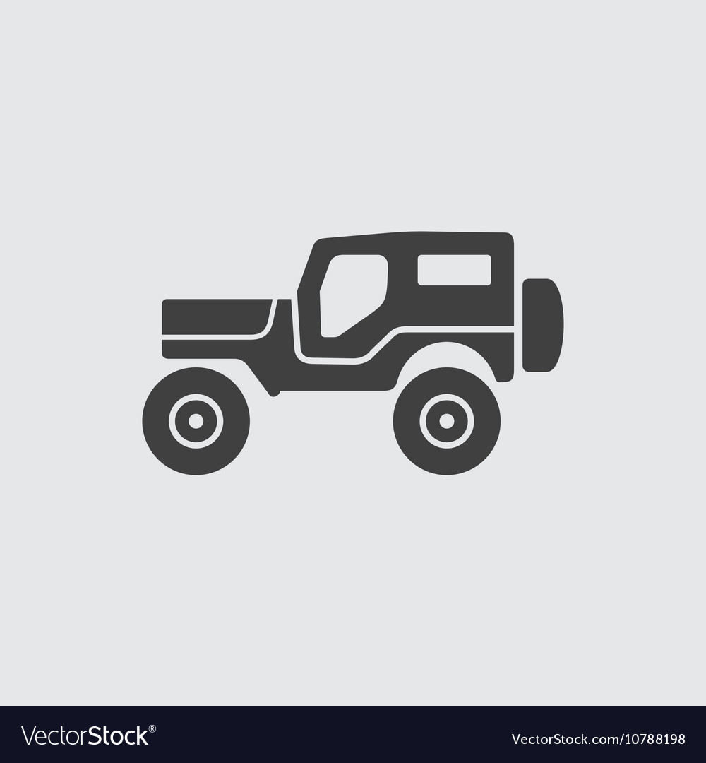 jeep icon royalty free vector image vectorstock