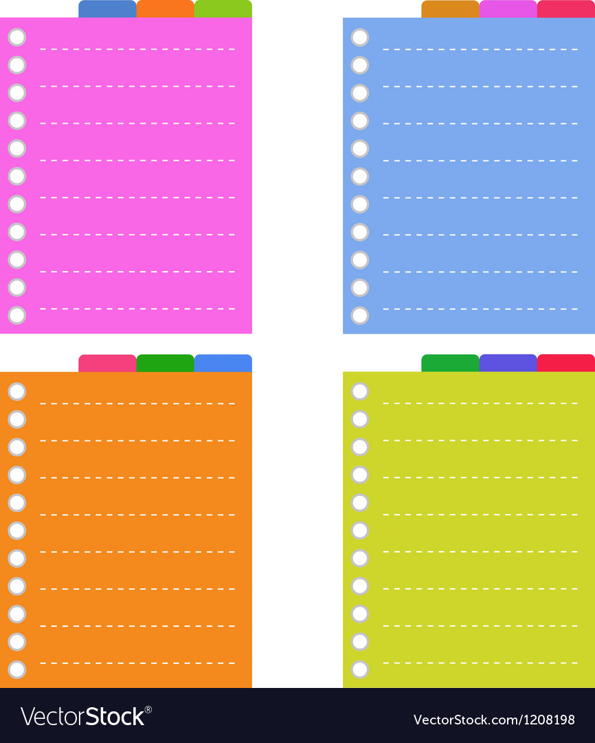 Lined Spiral Notepad Papers with Tabs
