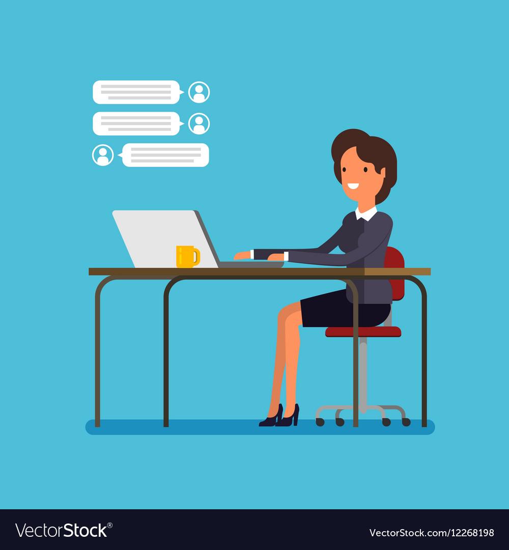 Live chat concept