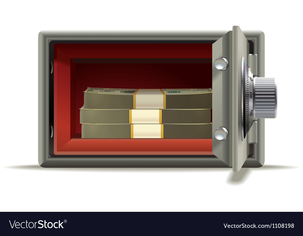 Safe deposit cash vector image