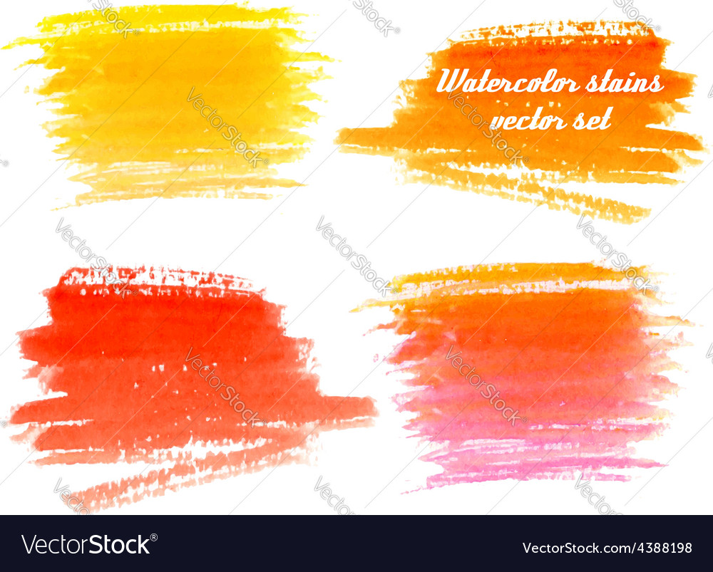 Set of abstract watercolor background with paper t vector image