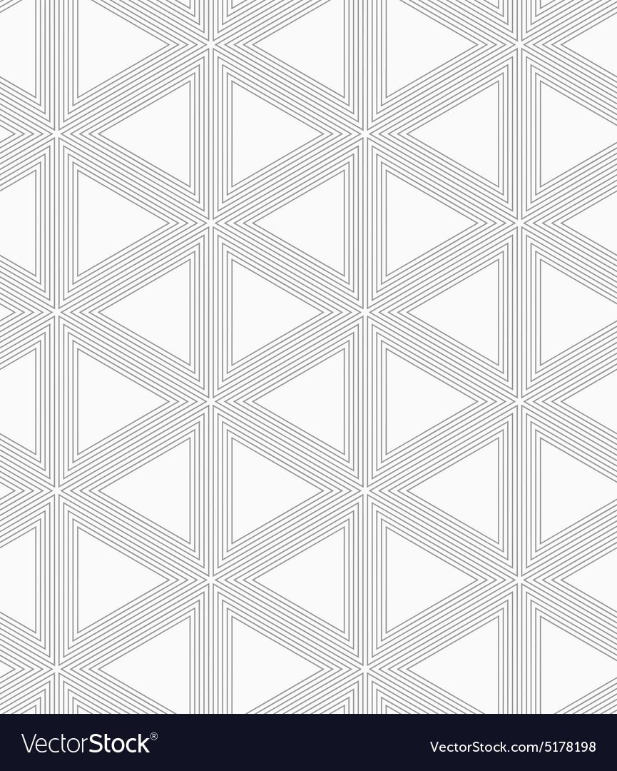 slim gray triangle grid royalty free vector image