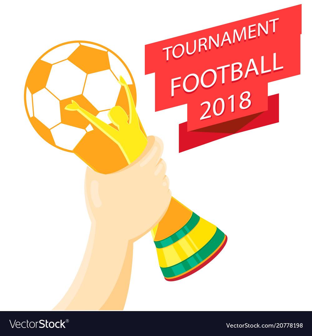 Tournament football 2018 hand holding championship