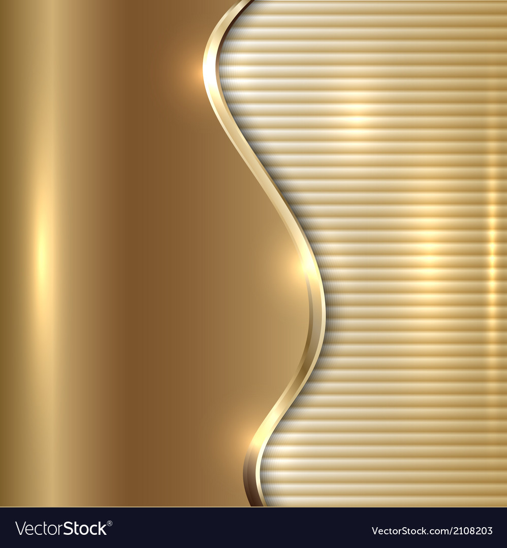 Abstract beige background with curve and stripes vector image