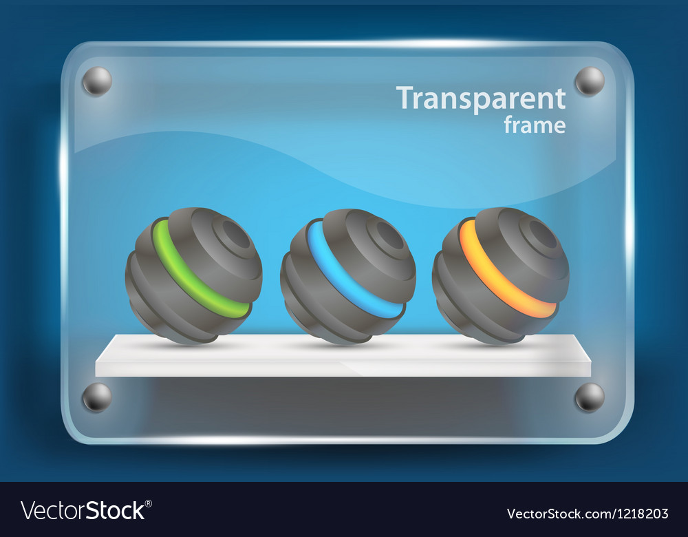 Background with glass frame vector image