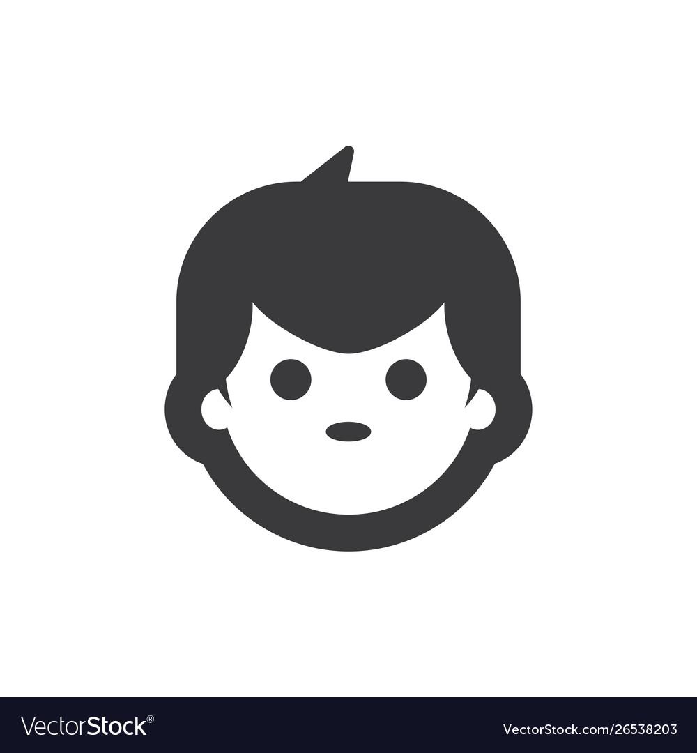 Boy face icon