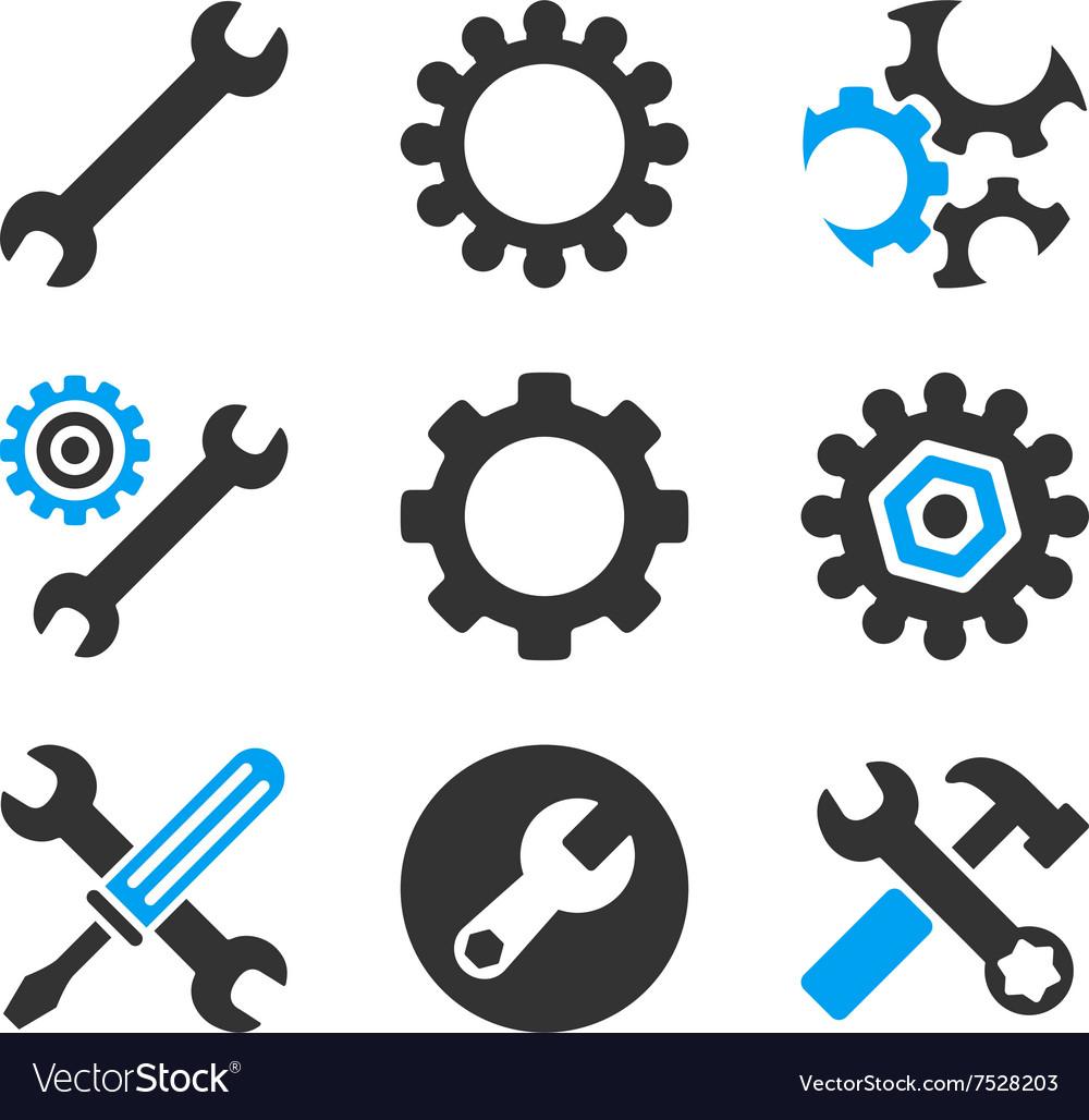 Configuration Tools Flat Bicolor Icons