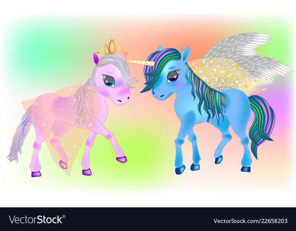 Fairy pegasus and beautiful ponies