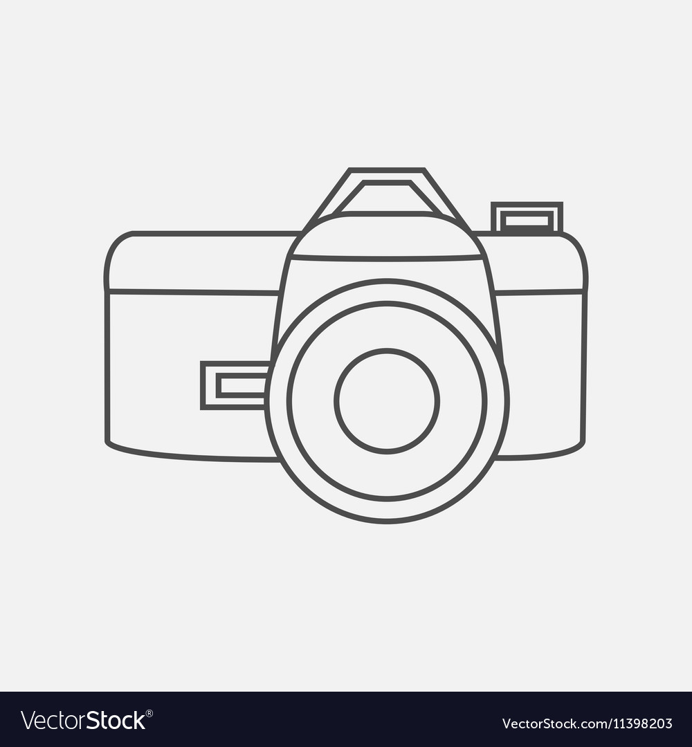 Photo camera icon in line style