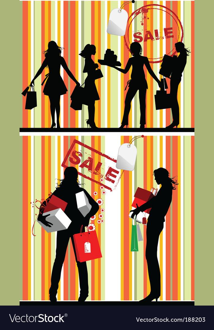 Silhouettes Of Women. Silhouettes Shopping Women