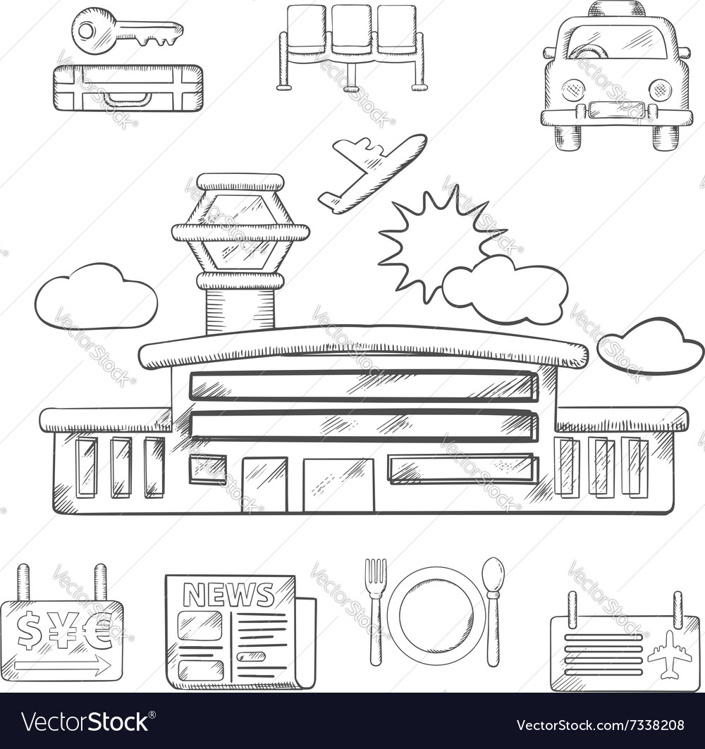 Airport and flight service sketch design