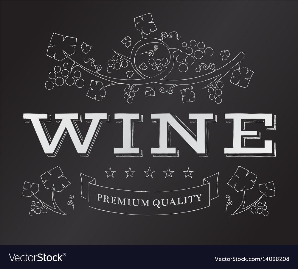 Chalk wine emblem