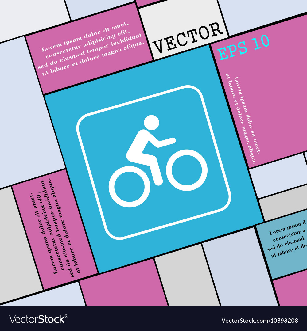 Cyclist icon sign Modern flat style for your