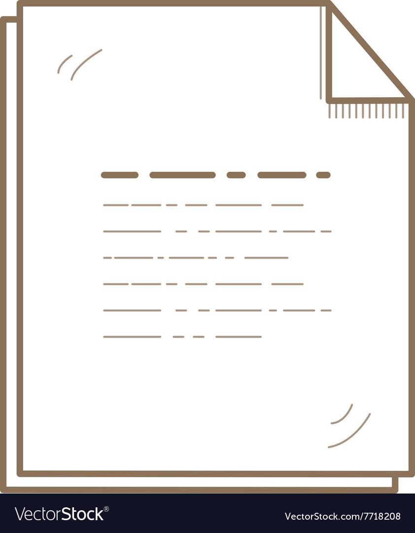 Flat Line File Icon Creative