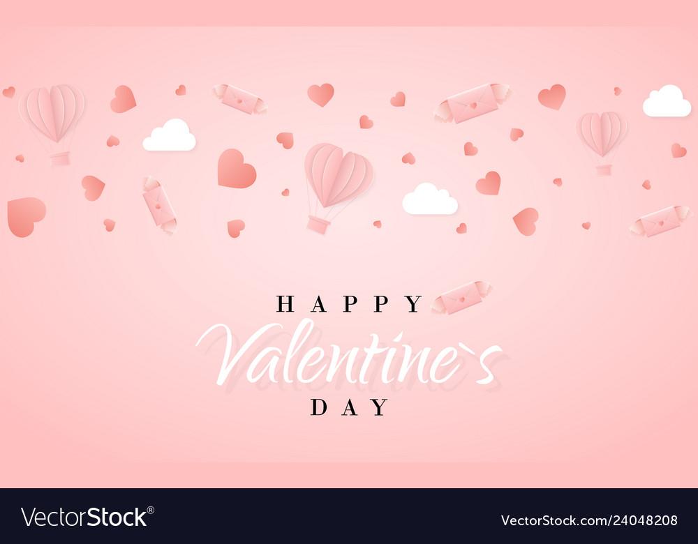 Happy valentines day invitation card template