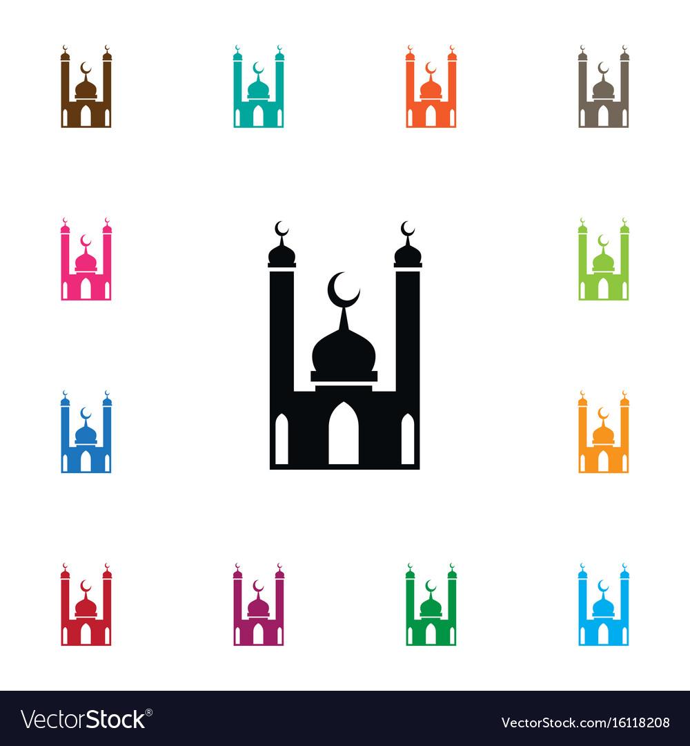 Isolated religion icon mohammedanism