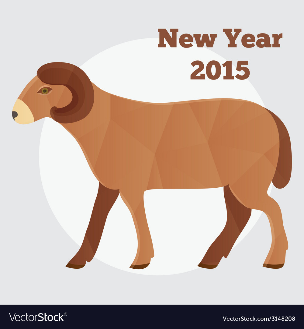 New Year of the Goat or Sheep 2015 polygonal