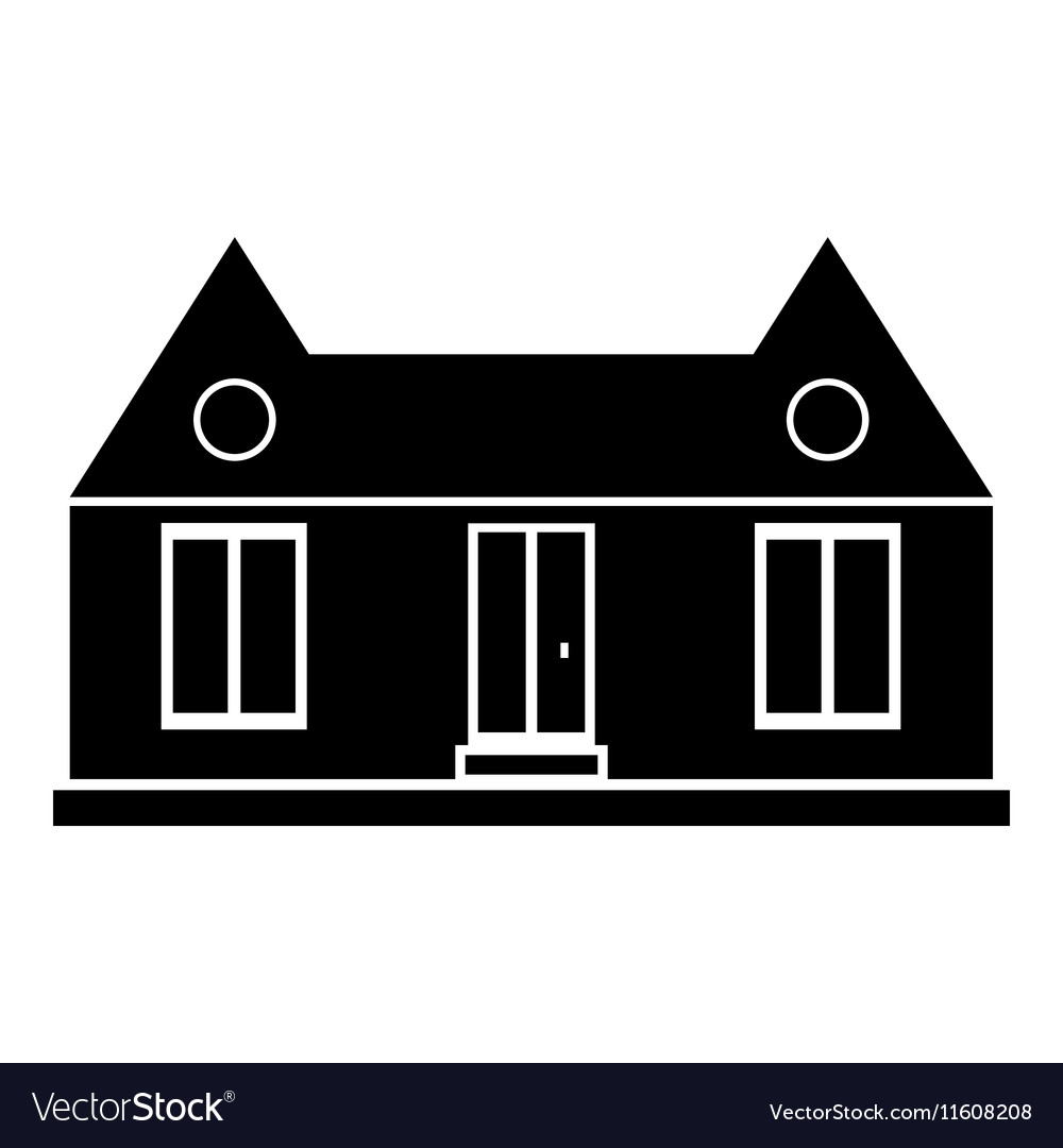 Suburban American House Icon Simple Style