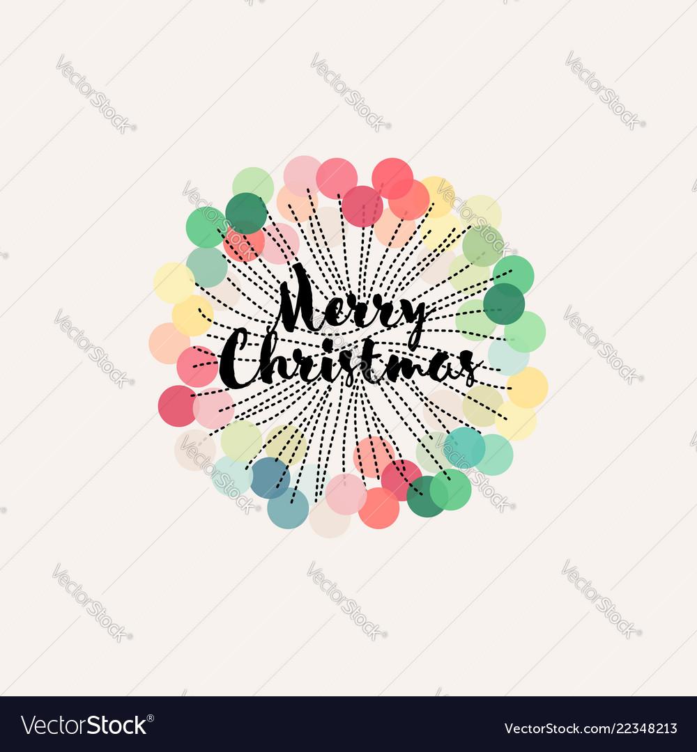 Christmas decoration with pastel pom pom rosette