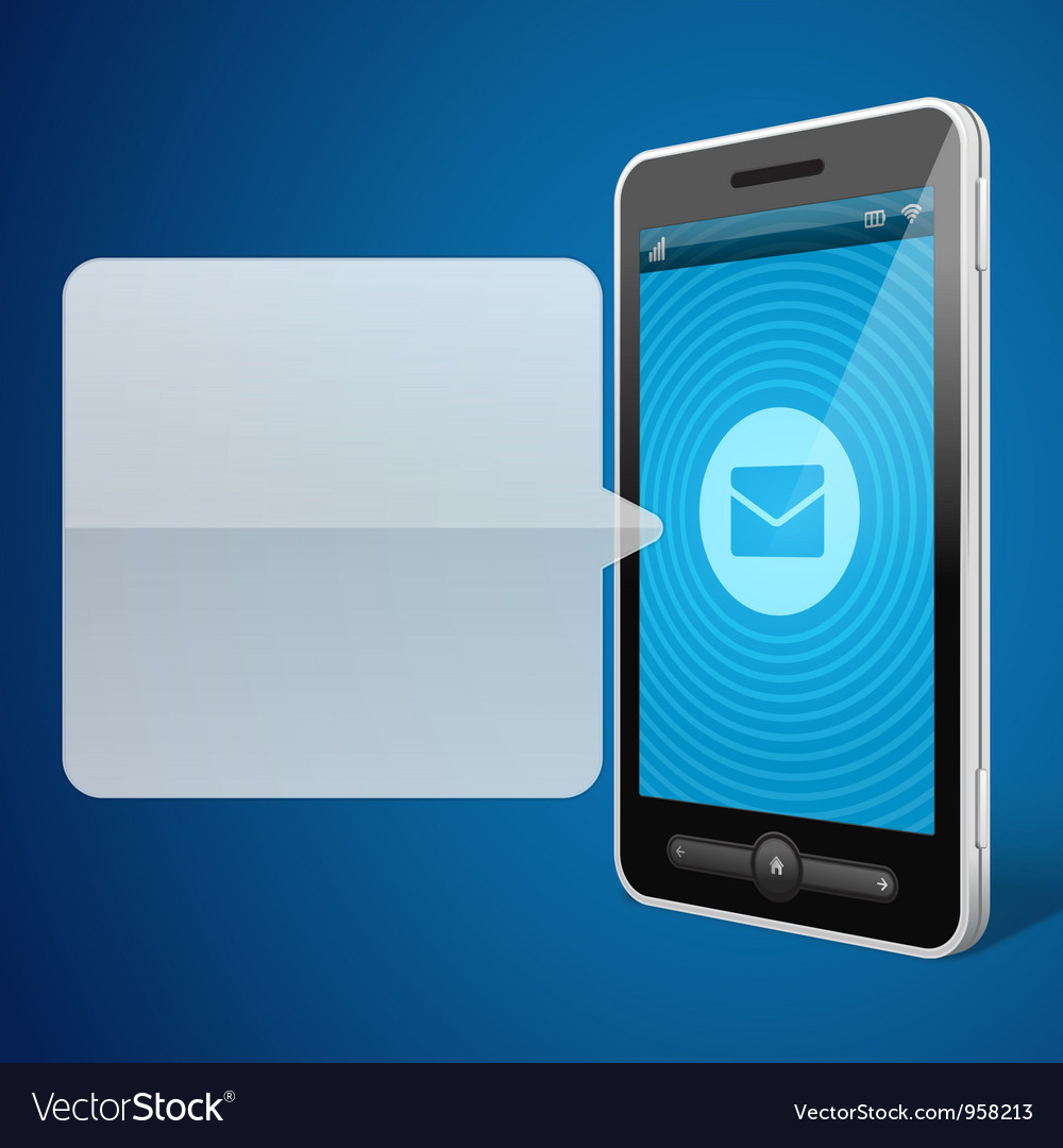 Mobile phone and incoming call icon vector image