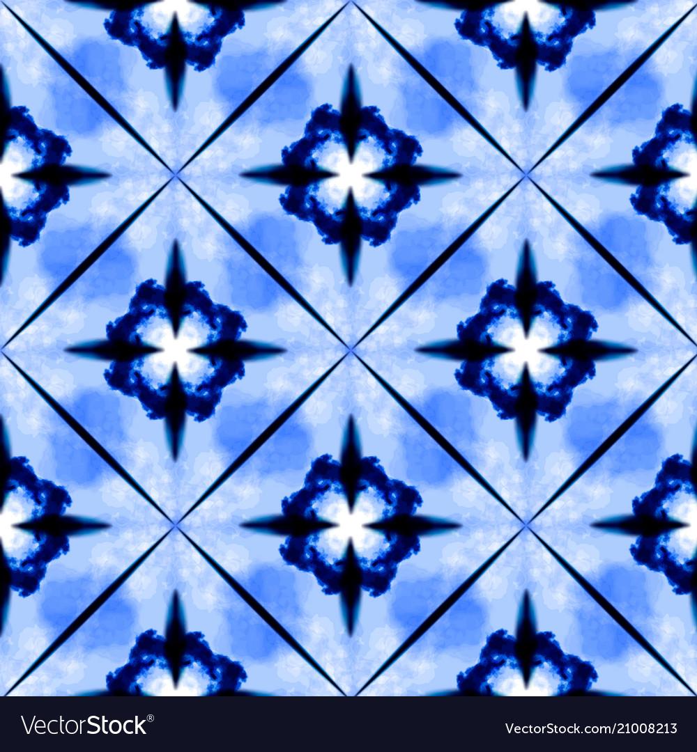 tie dye shibori print with stripes and chevron vector image