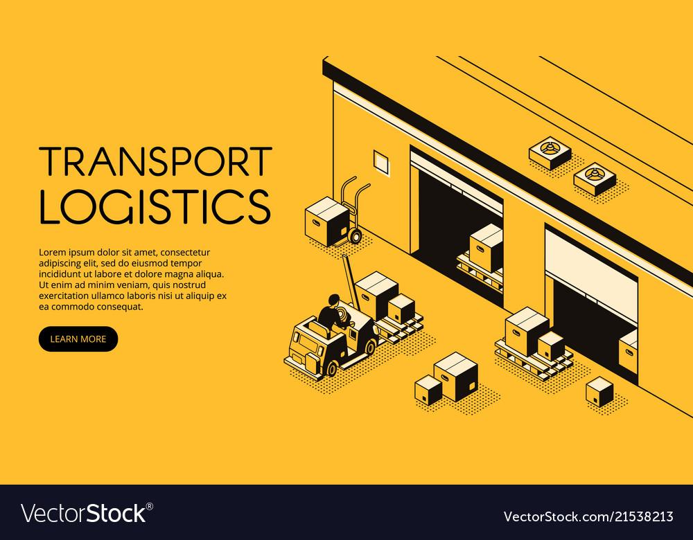 Warehouse logistics isometric