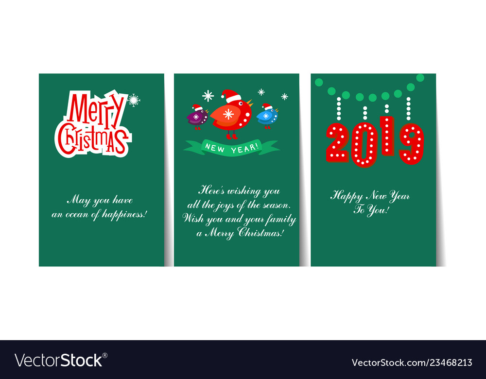 Winter holidays cards with lettering and