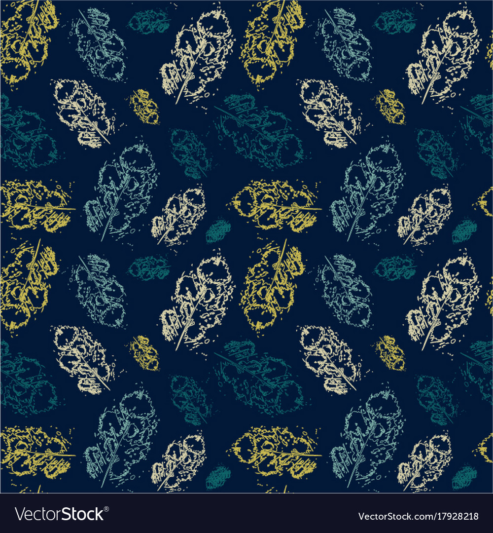 Autumn seamless pattern background leaves ornament